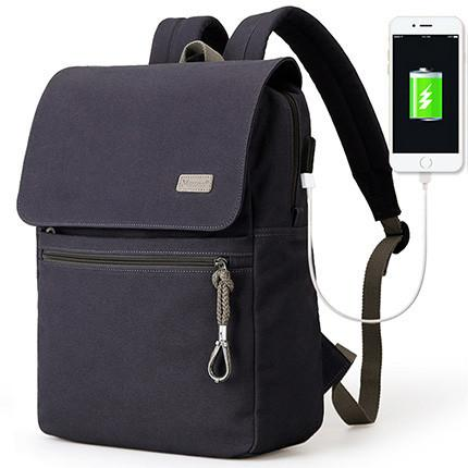 NEW 2017! Student Travel Backpack with USB Charging Port