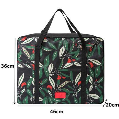 Leaf Patterned Foldable Carry-On Duffle Bag