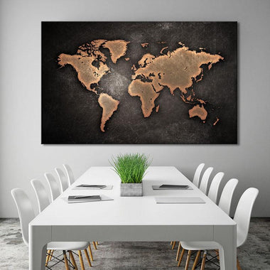 Shop world maps canvas painting vintage oil painting map travel nuts large abstract black canvas painting world map gumiabroncs Choice Image