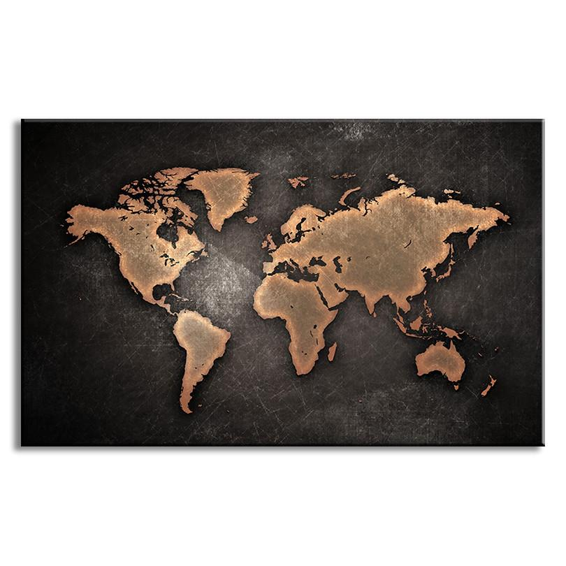 Large abstract black canvas painting world map travel nuts large abstract black canvas painting world map gumiabroncs Choice Image