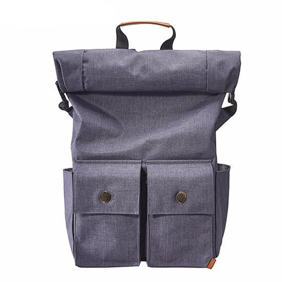 Roll Top 15 inch Laptop Waterproof Travel Backpack for Teenage