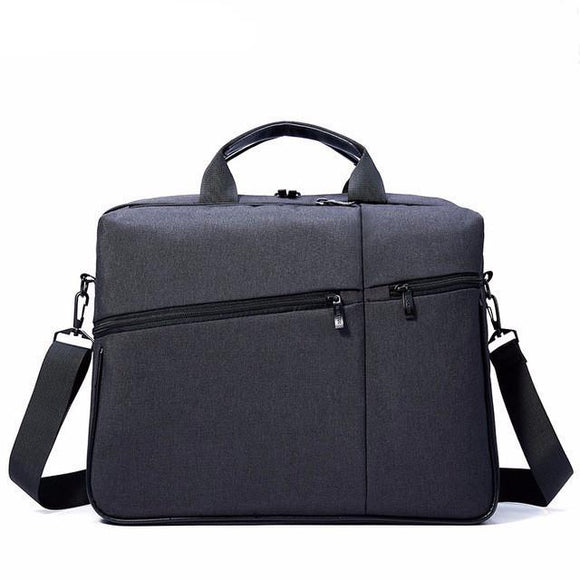 Solid Color Shockproof 15 inch Laptop Multifunctional Travel Messenger Bag