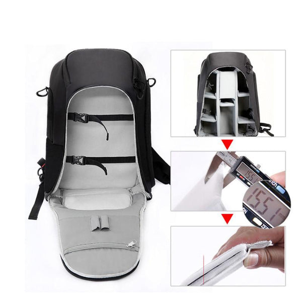 Polyester Made Waterproof Backpack For Camera And Laptop