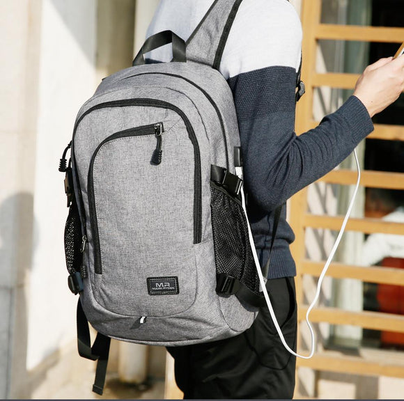 Large Capacity Laptop Travel Backpack with USB Charging Port