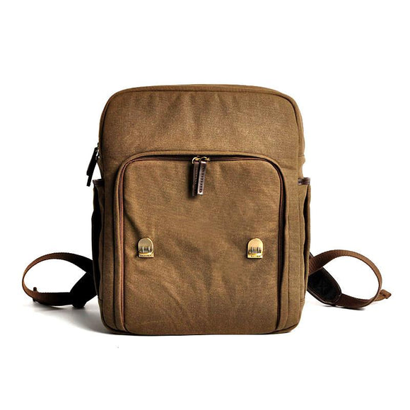 Canvas Brown Waterproof DSLR Backpack