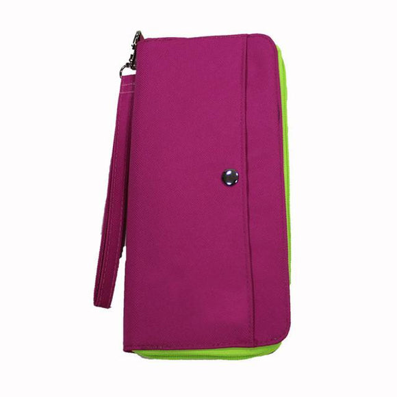 Long Multifunctional Passport and Document Holder Pouch