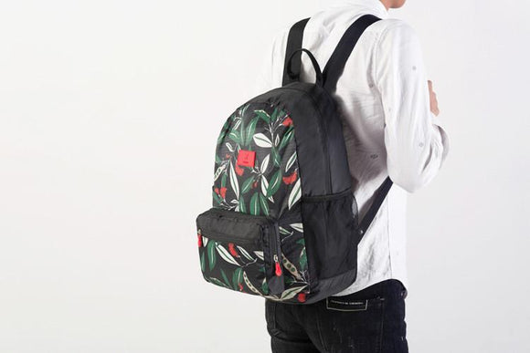 Leaf Patterned High Quality Foldable Travel Backpack