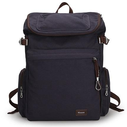 Vintage Style Large Capacity Canvas Duffle Bag With USB