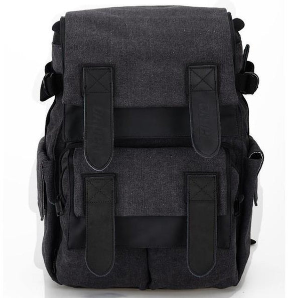 Canvas Gray Waterproof DSLR Backpack