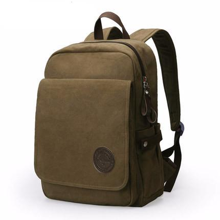 High Capacity Canvas Laptop Travel Backpack for Teenage