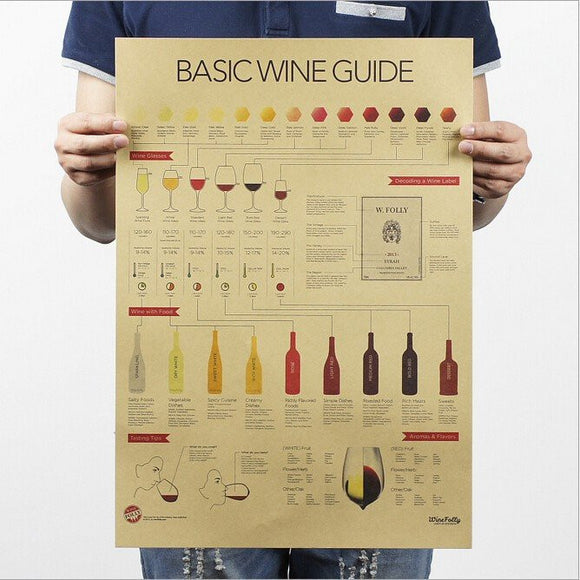 Vintage Wine Collection Wall Stickers