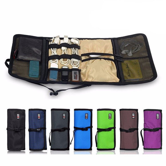 Eco-Friendly Roll-Up Electronics Organizer