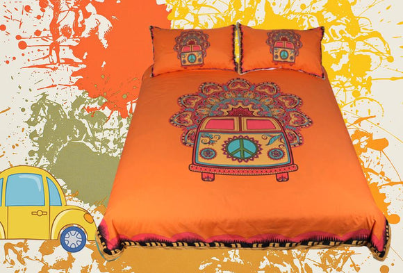 Boho Van Bedding Set