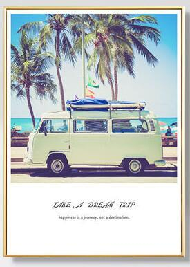 VW Tropical Sea Palm Tree Wall Poster