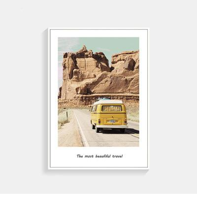 VW Yellow Bus In The Desert Wall Poster