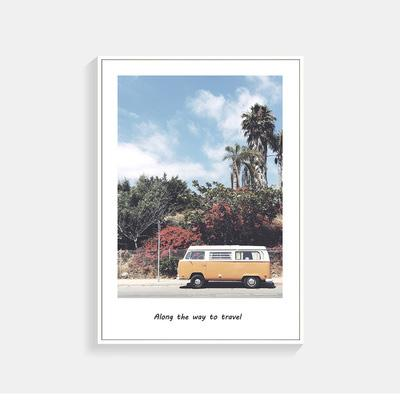 VW Yellow Bus In The Garden Wall Poster
