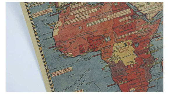 Amazing Vintage World War Maps on Kraft Paper