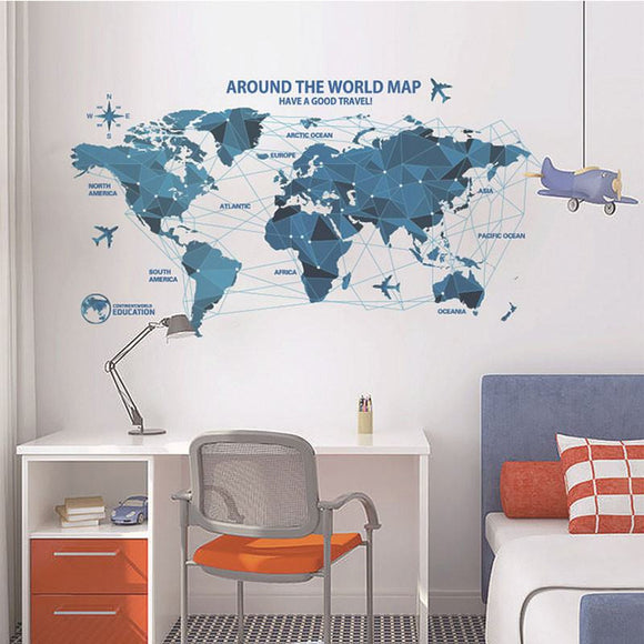 New! Innovative Plane Routes Map Wall Sticker
