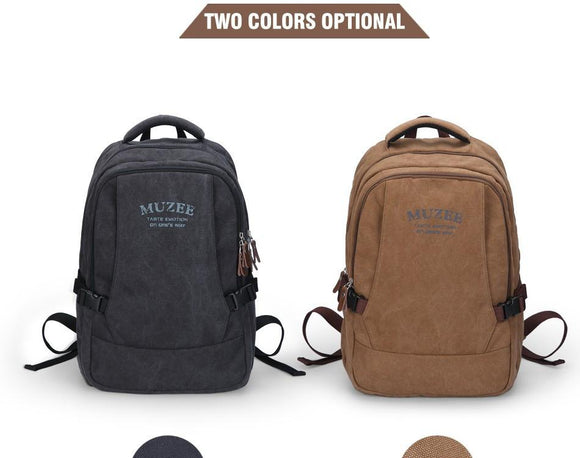 Vintage Canvas Laptop Backpack - 2 Variants