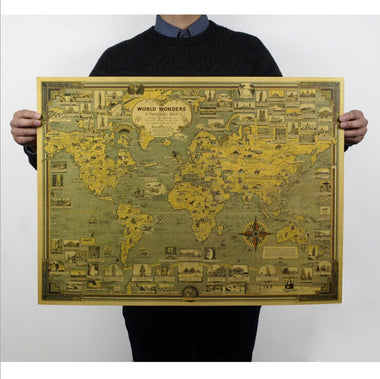 Vintage World Maps Travel Nuts - Retro world map poster