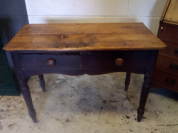 Victorian Pine Desk / Console Table
