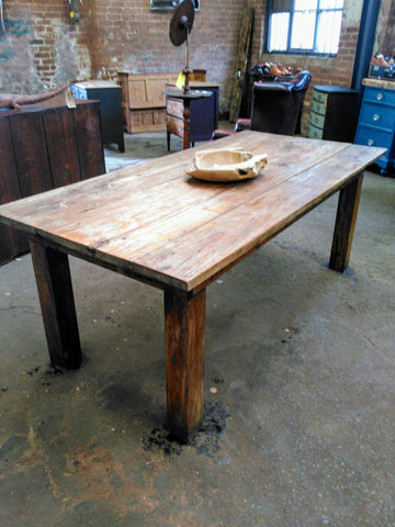 Sycamore Early 20th Century Bakers Table (Dining Table)