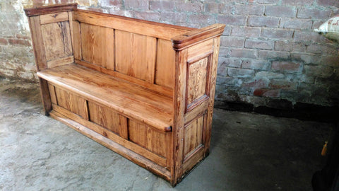 Pitch Pine Church Pew just under 5ft