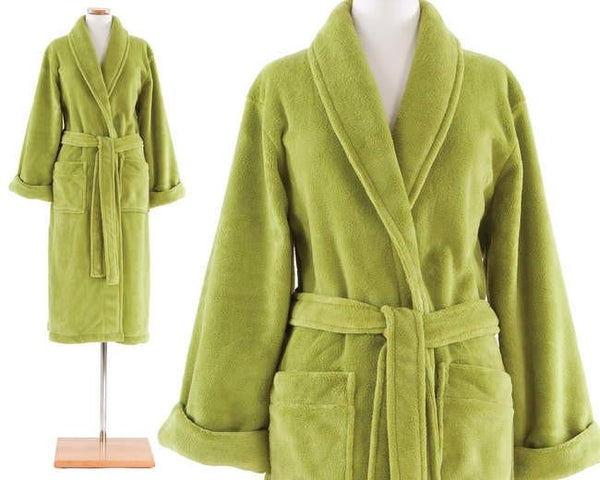 Sheepy Fleece Key Lime Robe - GDH | The decorators department Store