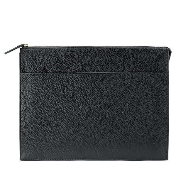 Attache Case Scotch Grain Pebble Leather | Black - GDH | The decorators department Store - 1