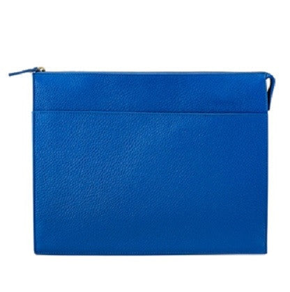 Attache Case Scotch Grain Pebble Leather | Cobalt - GDH | The decorators department Store