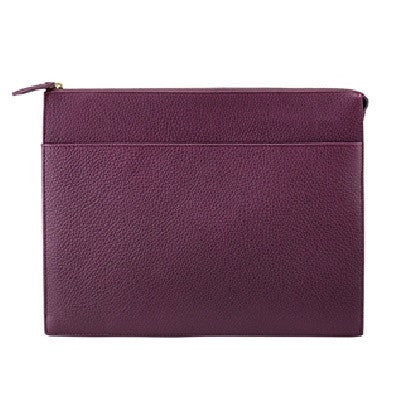 Attache Case Scotch Grain Pebble Leather | Wine - GDH | The decorators department Store