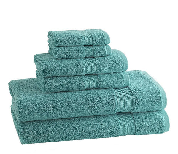 CLASSIC EGYPTIAN TOWELS | Set of 6 | Aqua