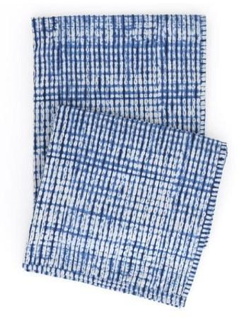 Tie Dye Throw in Indigo - GDH | The decorators department Store