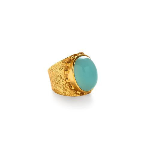 Botticelli Cocktail Ring: Chalcedony - babeonbroadway