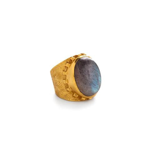 Botticelli Cocktail Ring: Labradorite - babeonbroadway