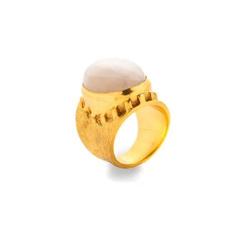 Botticelli Cocktail Ring: Moonstone - babeonbroadway