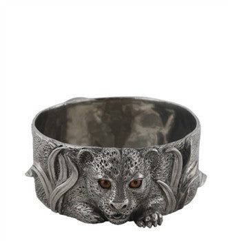 African Leopard Pewter Wine Coaster - babeonbroadway