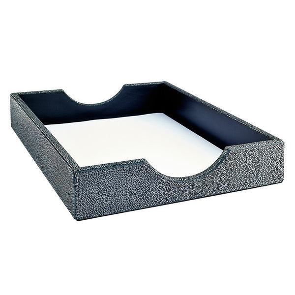 Letter Tray Shagreen Leather