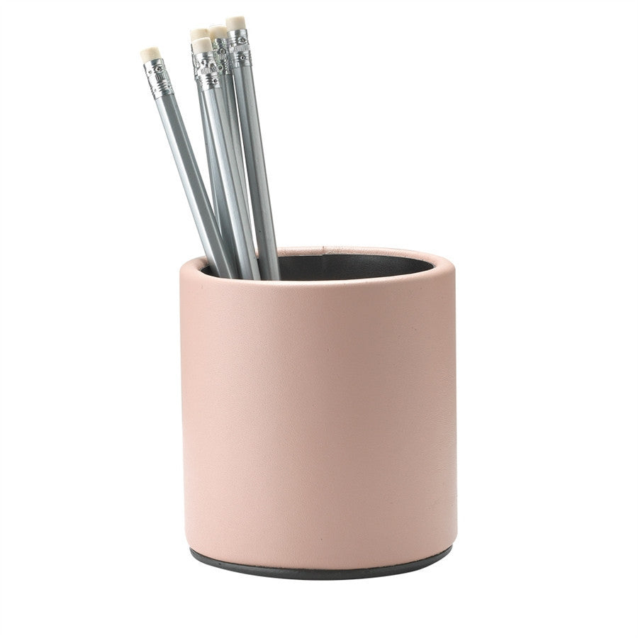 Nude French Calfskin Leather Pencil cup - GDH | The decorators department Store