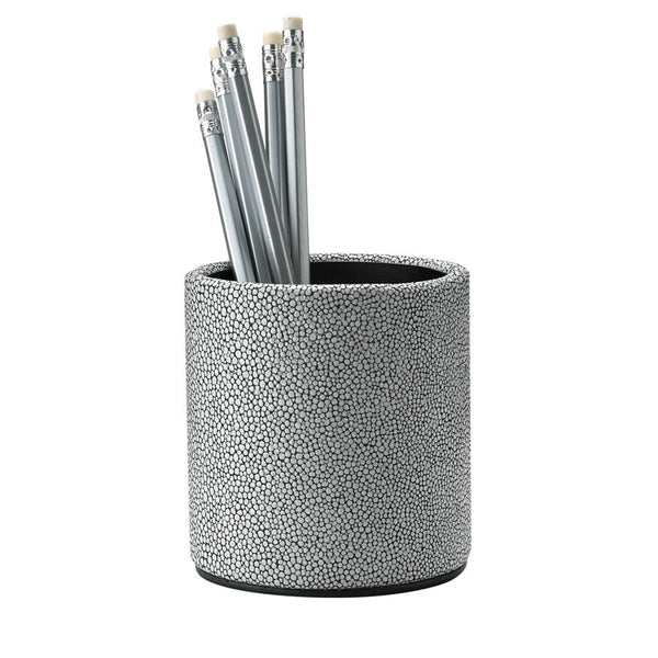 Whitestone Shagreen Leather Pencil cup - GDH | The decorators department Store