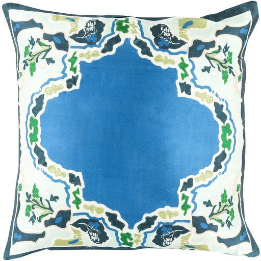 Aqua | Geisha Silk Pillow - GDH | The decorators department Store