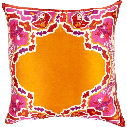 Orange | Geisha Silk Pillow - GDH | The decorators department Store
