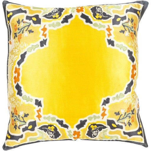 Yellow | Geisha Silk Pillow - GDH | The decorators department Store