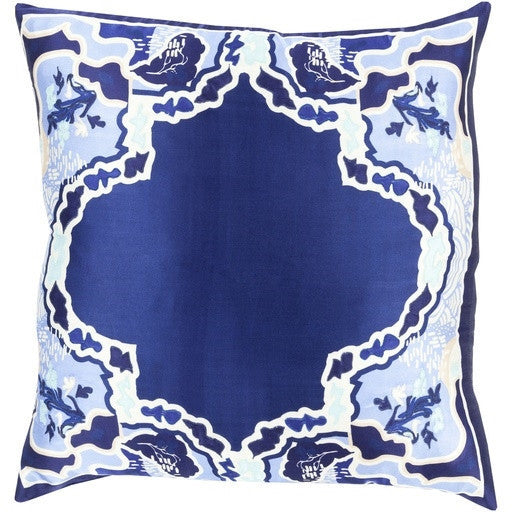 Blue | Geisha Silk Pillow - GDH | The decorators department Store
