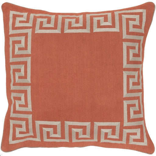 Greek Key | Coral by Beth Lacefield - GDH | The decorators department Store