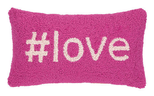Hashtag Love Hook Pillow