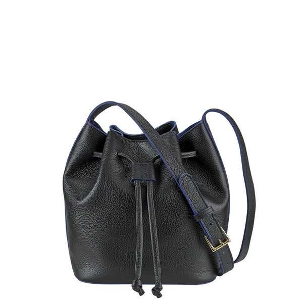 Black Mini Bucket Bag - babeonbroadway