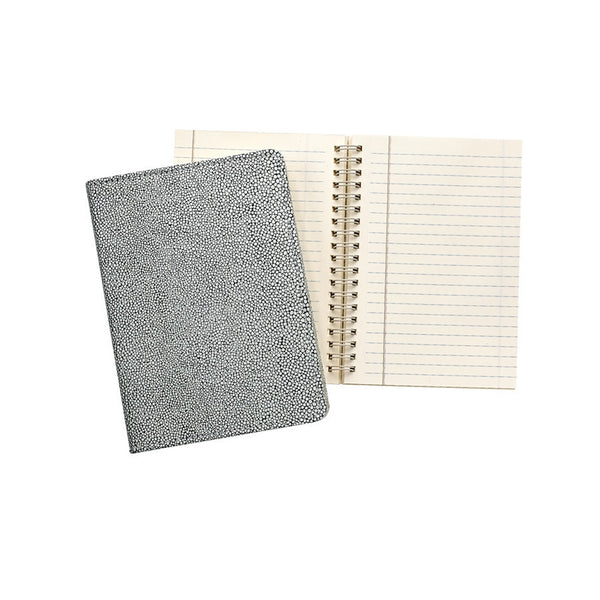 "Whitestone Shagreen Leather  7"" Wire-O-Notebook - GDH 