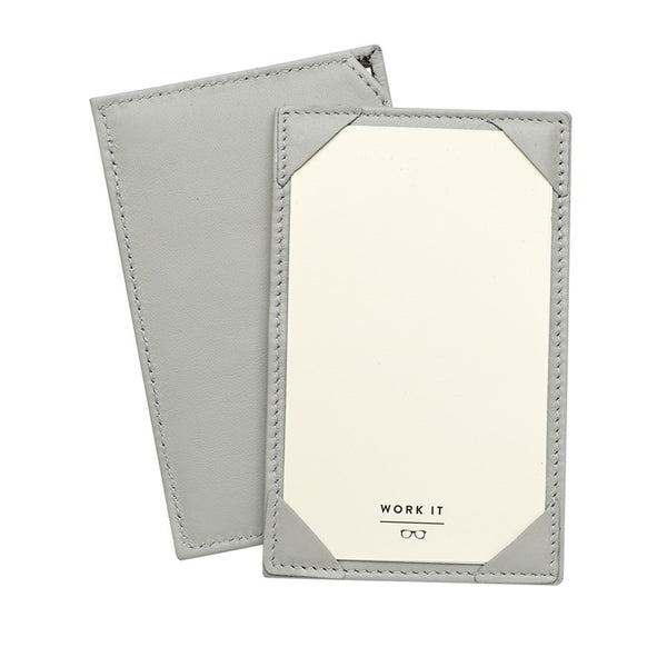 Grey French Calfskin Leather Jotter - GDH | The decorators department Store