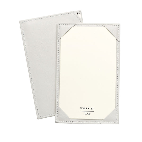 Ivory French Calfskin Leather Jotter - GDH | The decorators department Store